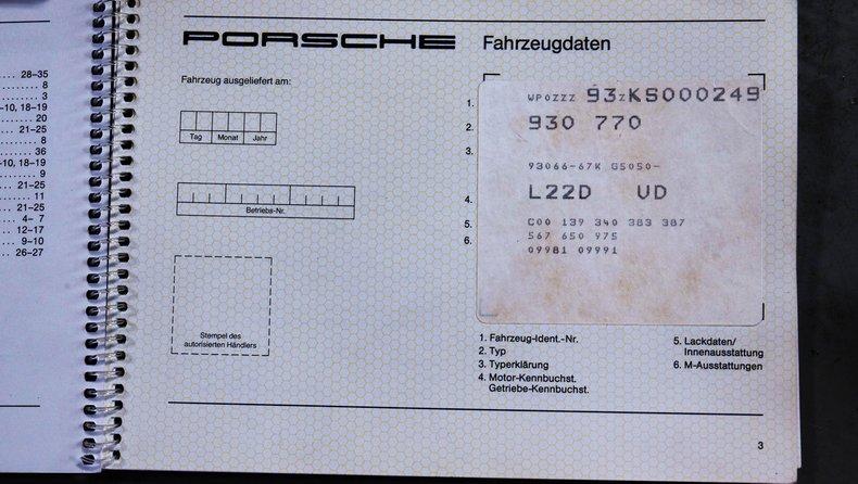 1989 Porsche 930 Turbo S
