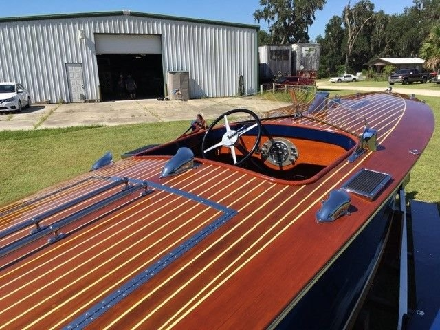 Auction 1932 Hacker Dual Cockpit Runaway Boat