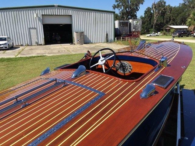 1932 hacker dual cockpit runaway boat