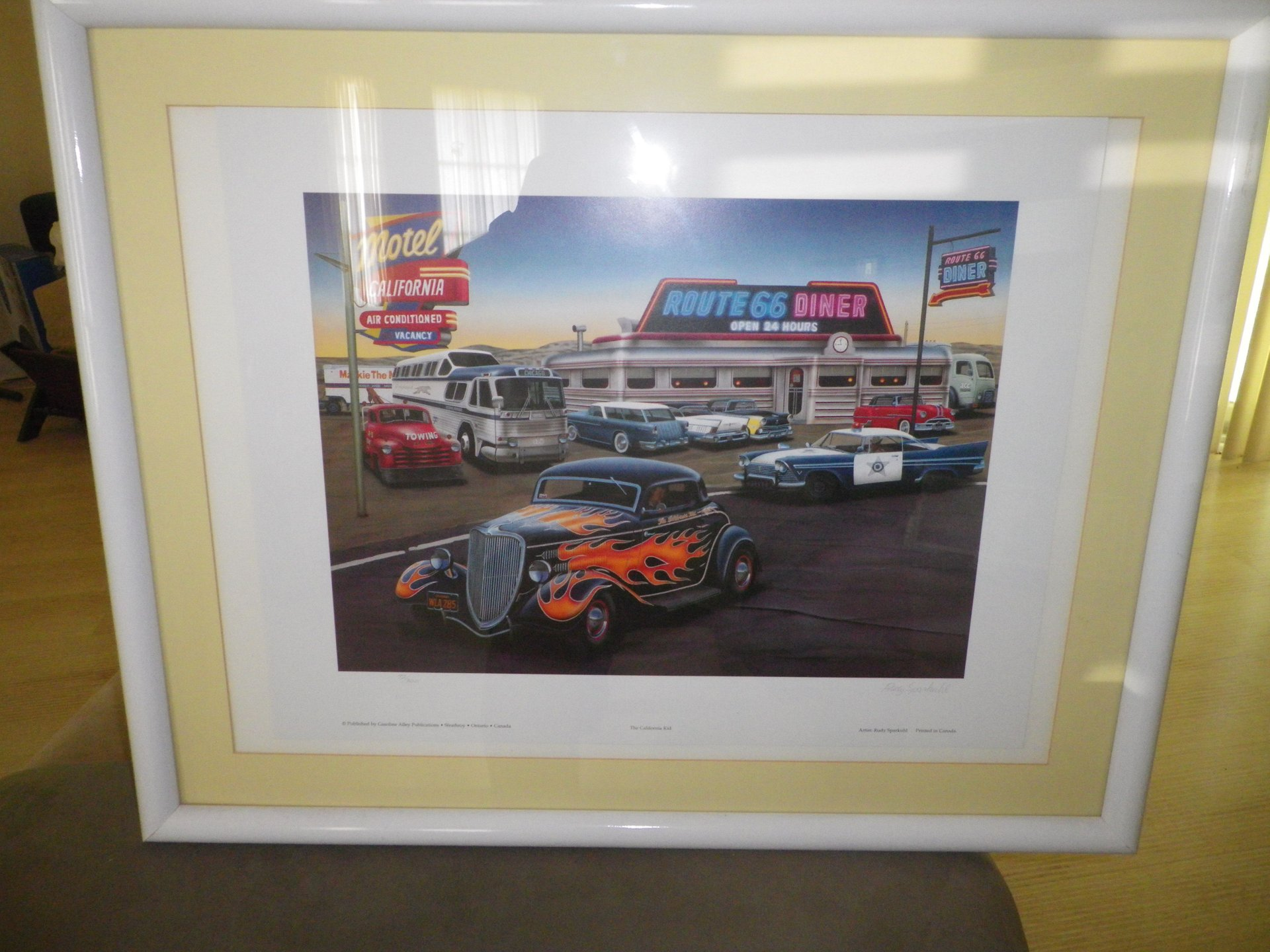 Collectible item route 66 diner print
