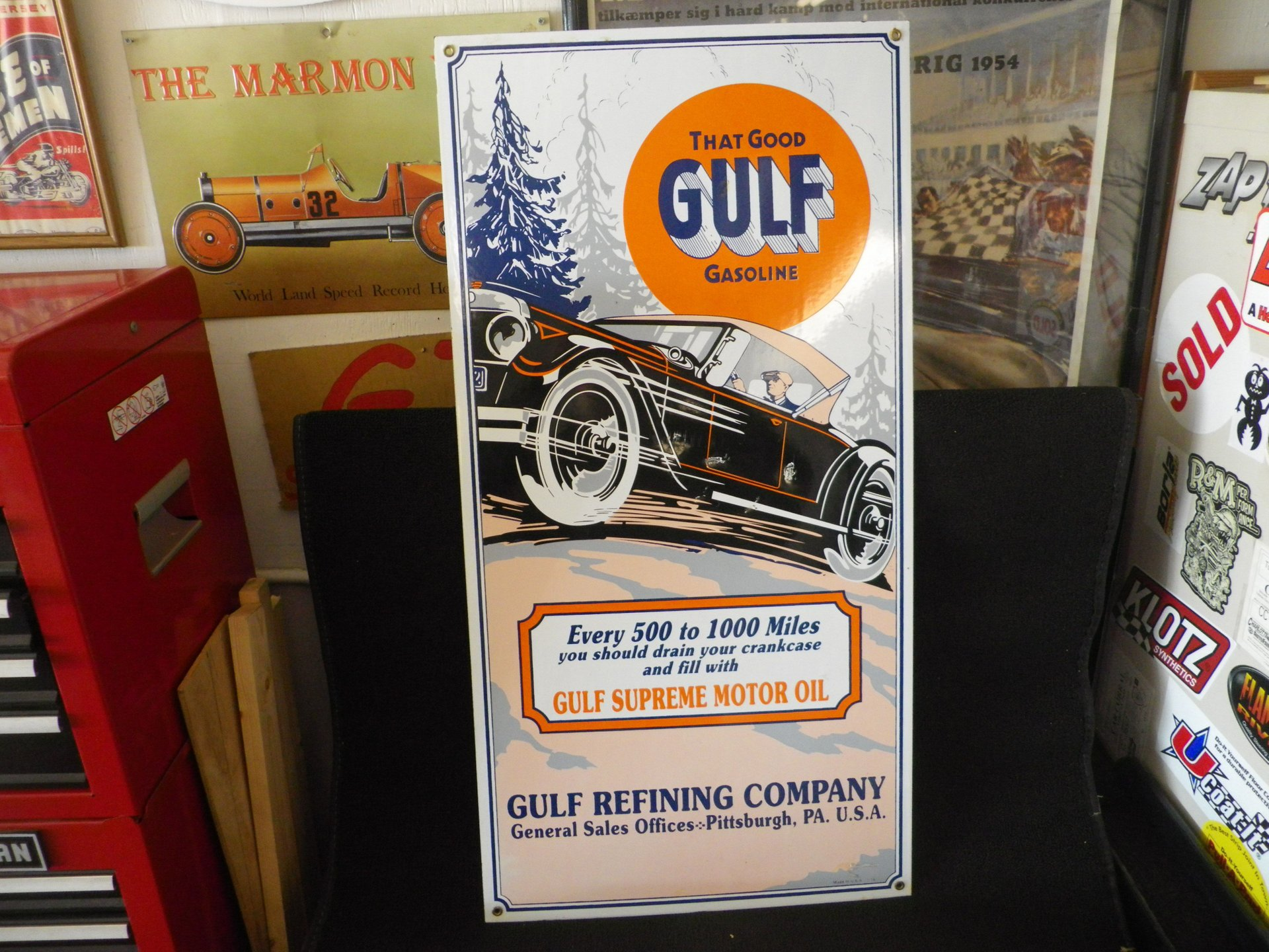 Collectible item good gulf sign