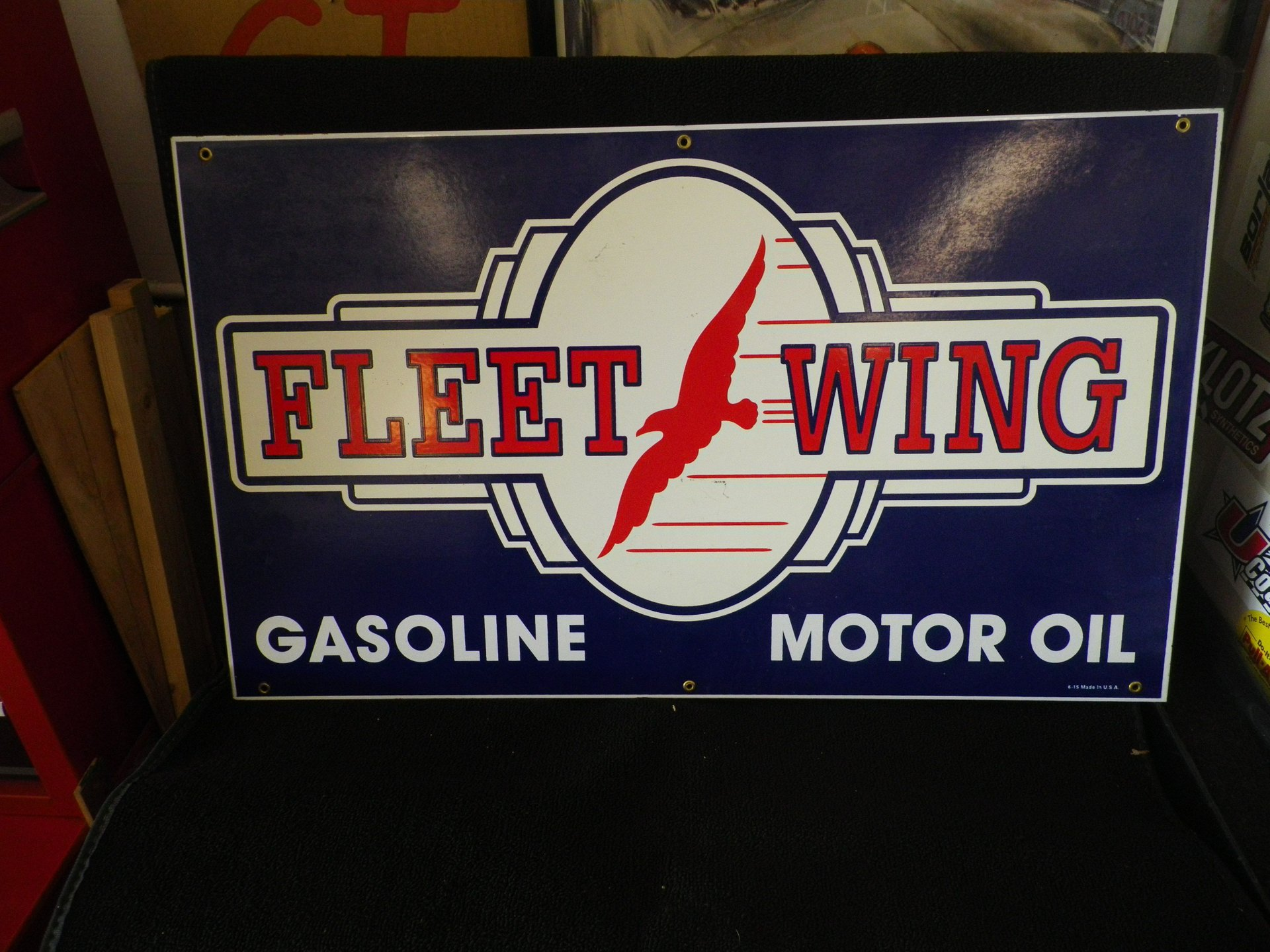 Collectible item fleet wing sign