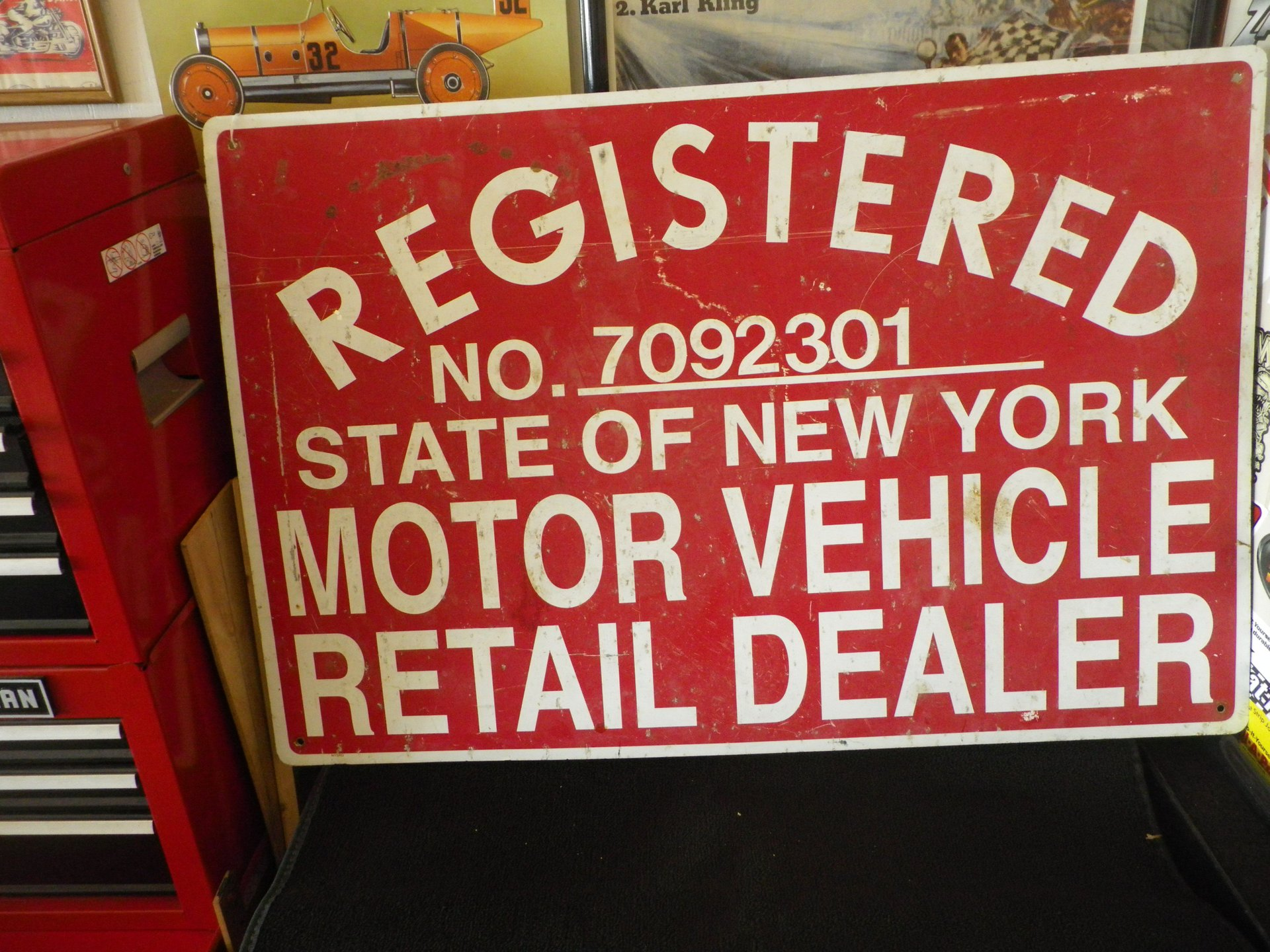 Collectible item ny motor vehicle dealer sign