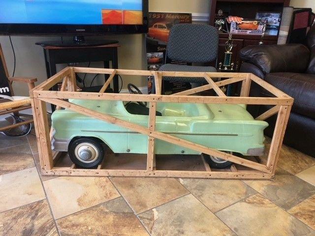 Collectible item hamilton fiberglass 58 chevy pedal car
