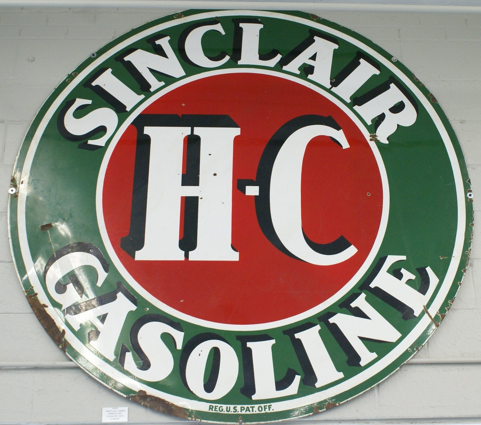 For Sale 1930's Sinclair H-C Gasoline