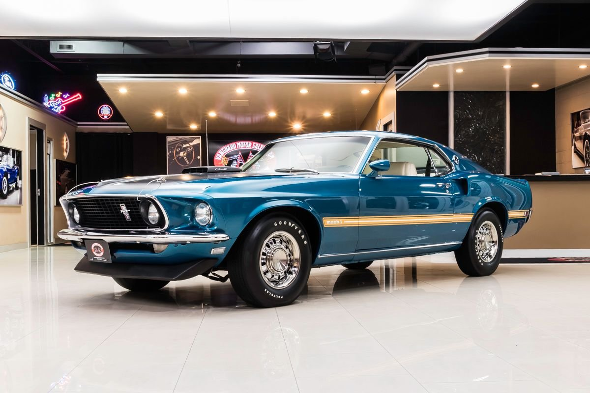 1969 ford mustang fastback mach 1 r code