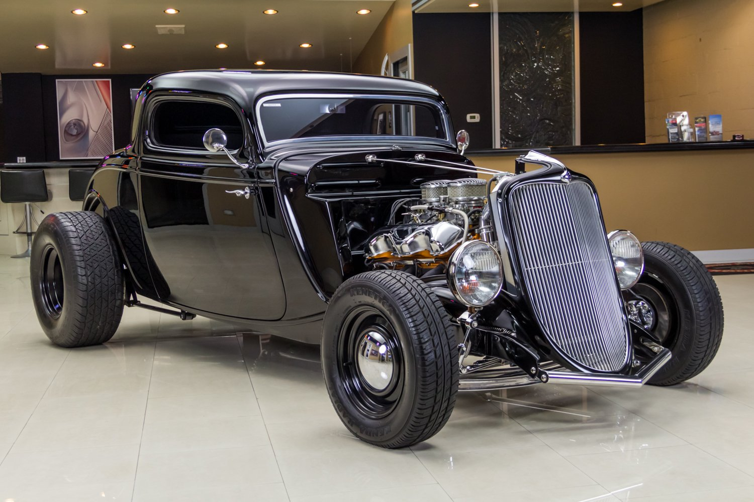1933 ford 3 window coupe street rod