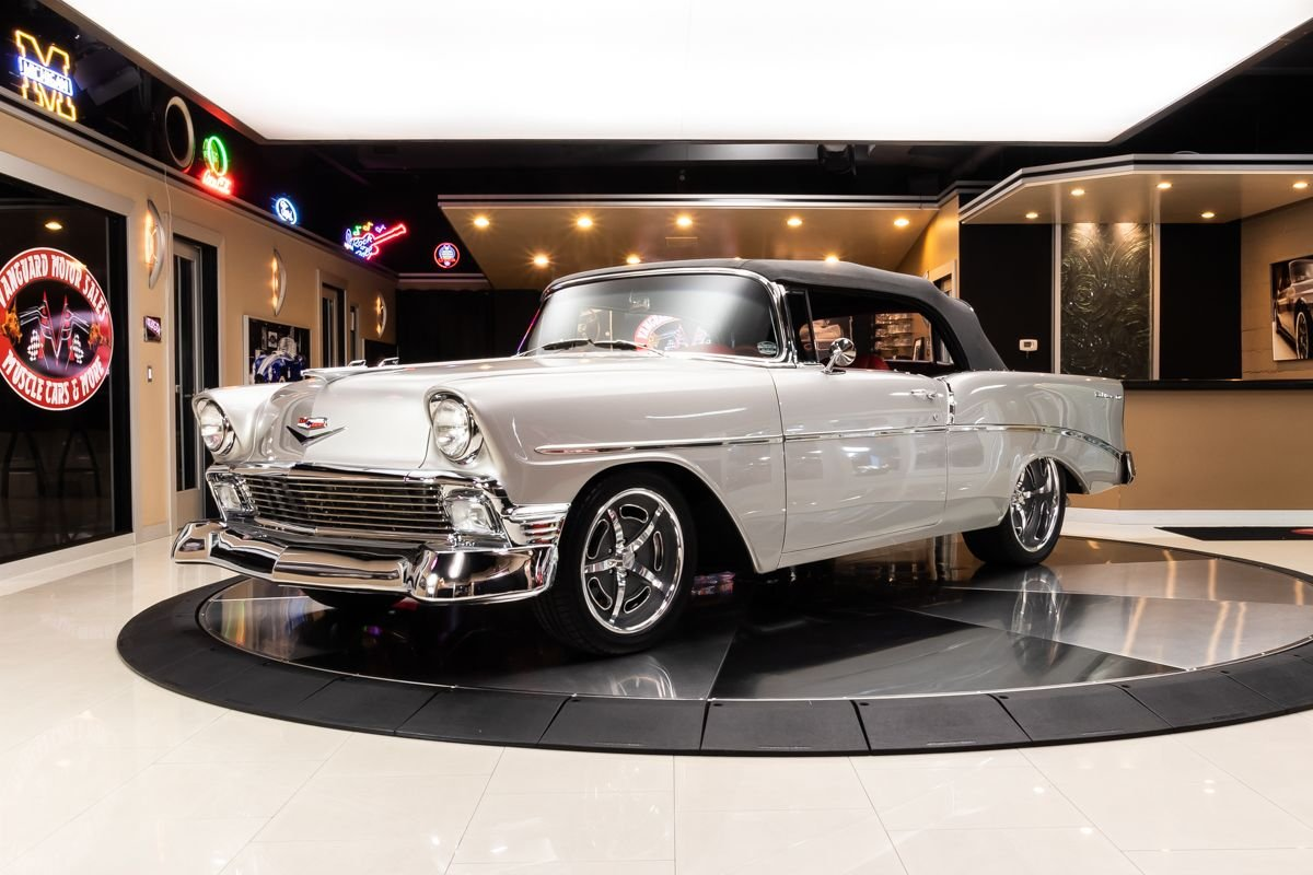 1956 chevrolet bel air convertible restomod