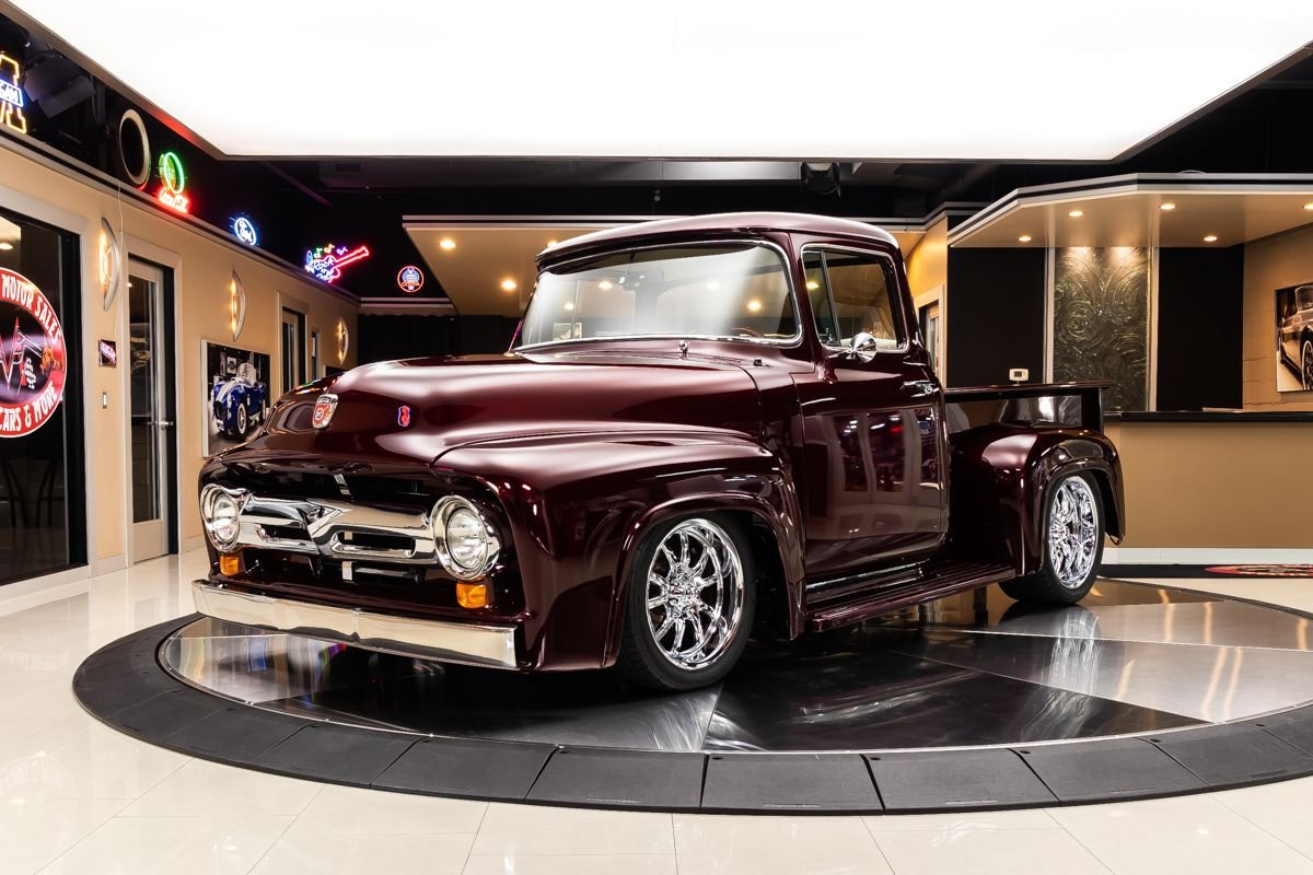 1956 ford f100 pickup big window restomod