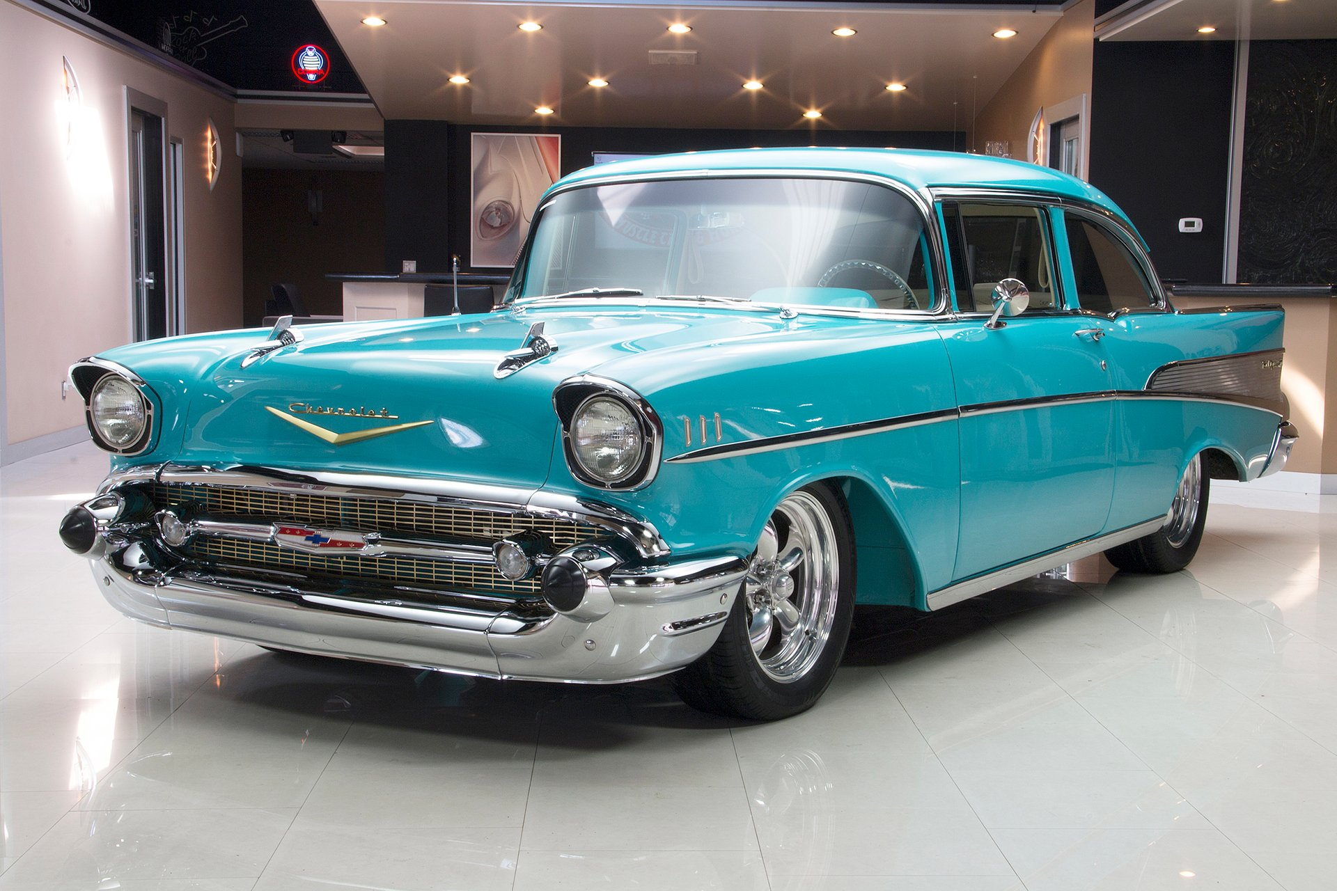 1957 Chevrolet 210 Classic Cars For Sale Michigan Muscle Old Chevy Bel Air Interior