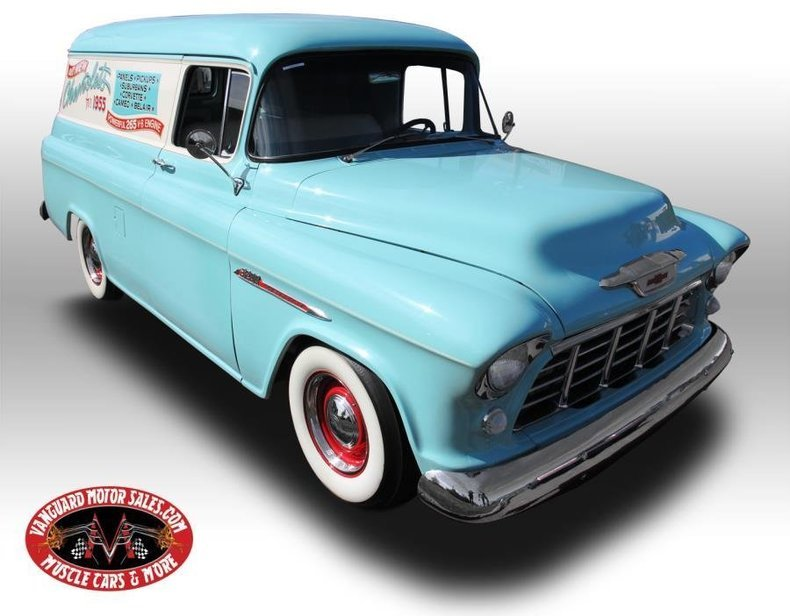 1955 chevrolet panel truck delivery