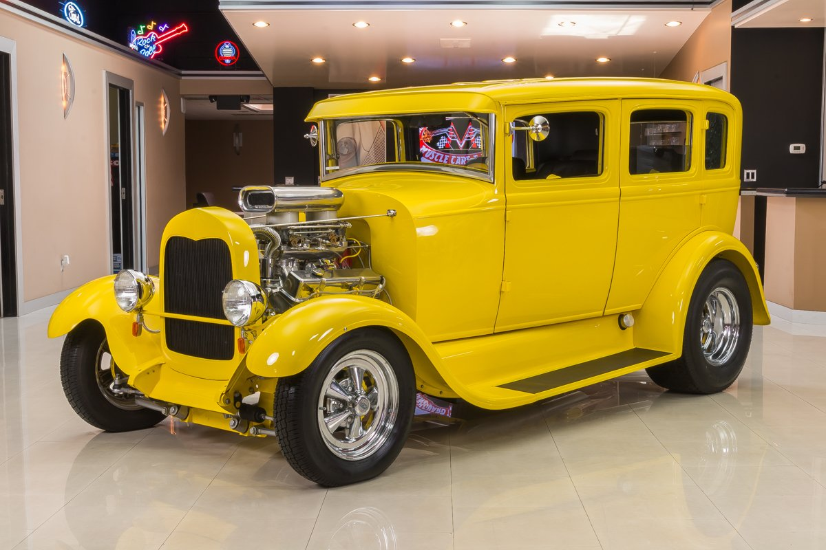 1929 ford model a fordor sedan street rod