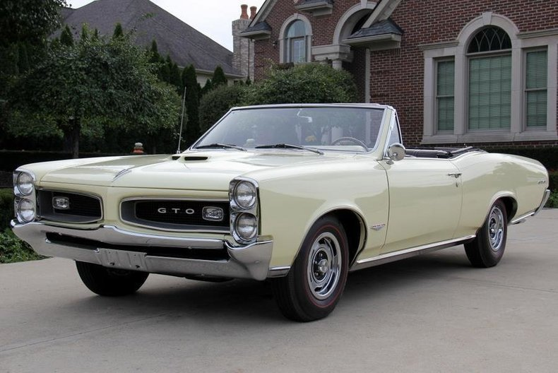 1966 pontiac gto tri power convertible