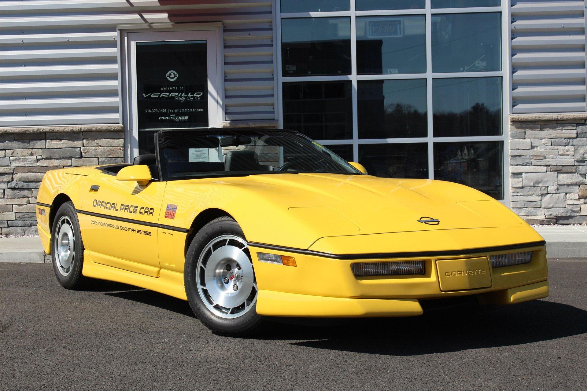 1986 chevrolet corvette indianapolis 500 pace car