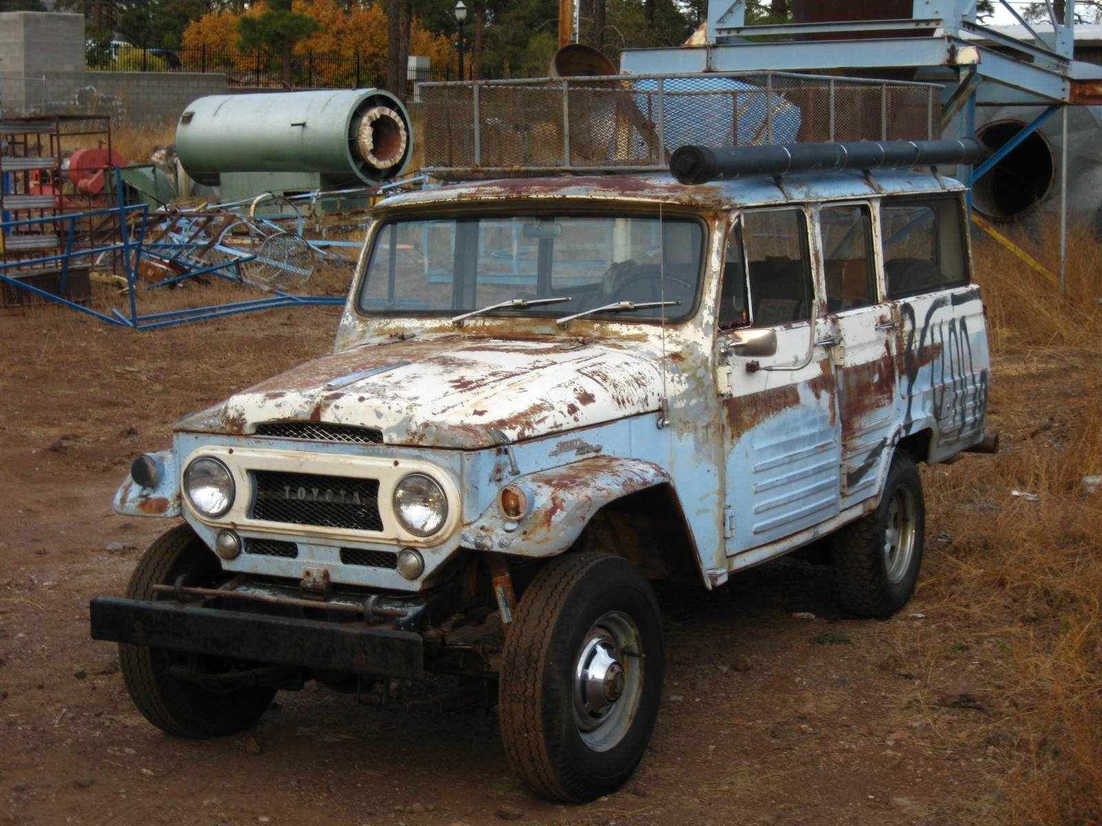 1966 TOYOTA LHD RARE 4 DR WAGON FJ45 LV BARN FIND!