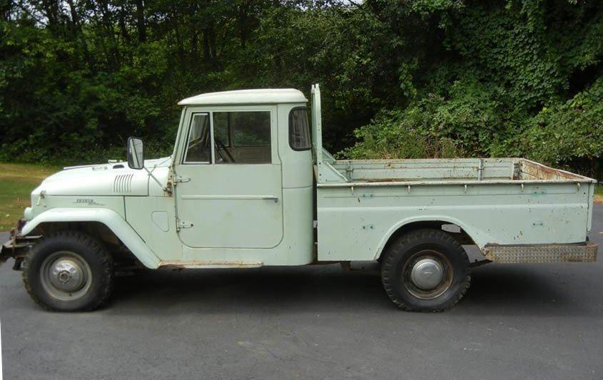 1965 Toyota FJ45 Pickup 100% Original No Rust Rot Stored 25yrs
