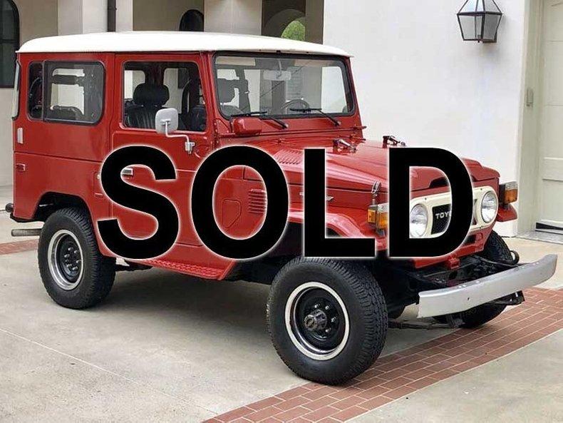 1978 Toyota FJ40 For Sale