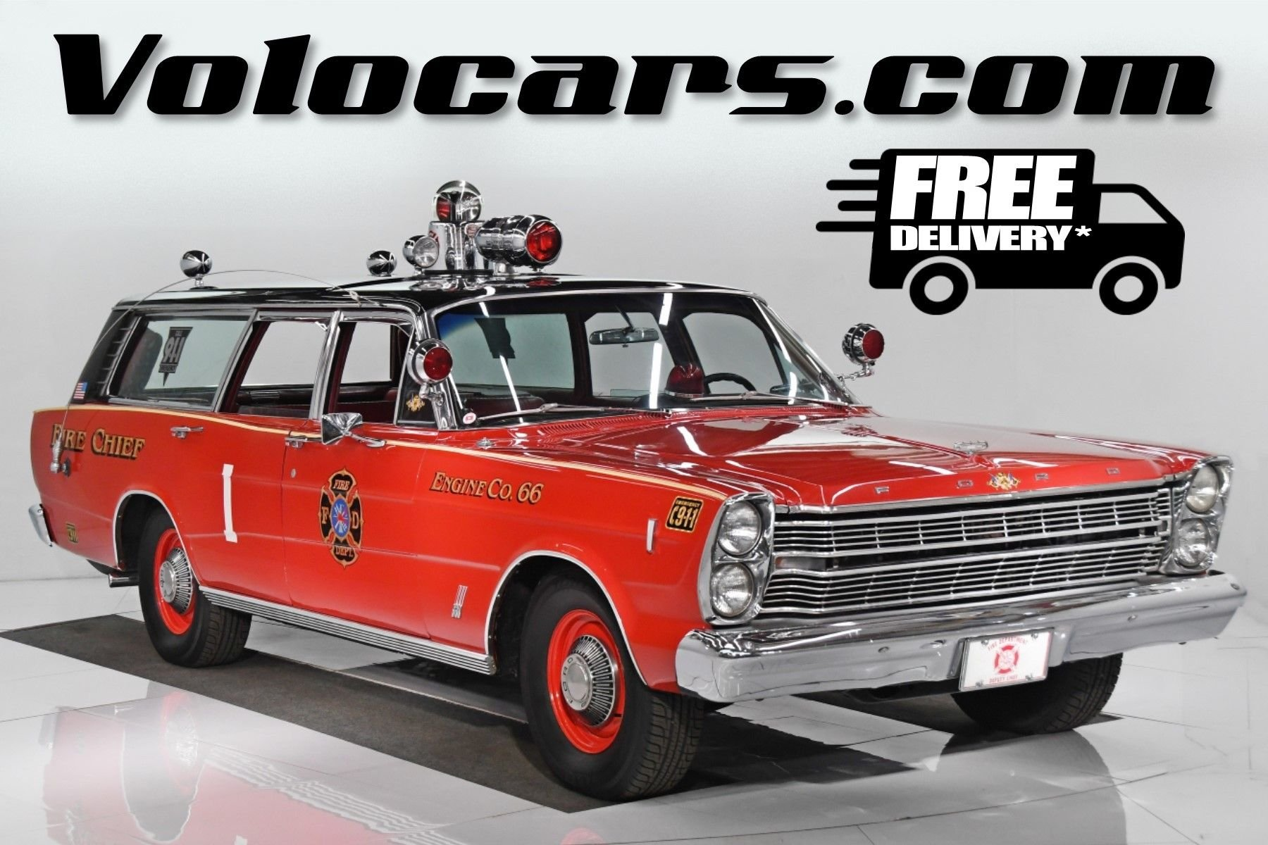 1966 ford country sedan wagon fire chief s