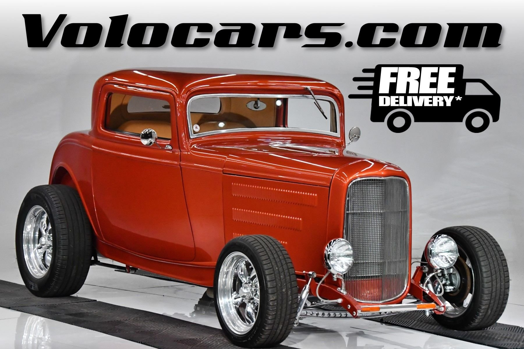 1932 ford 3 window street rod coupe