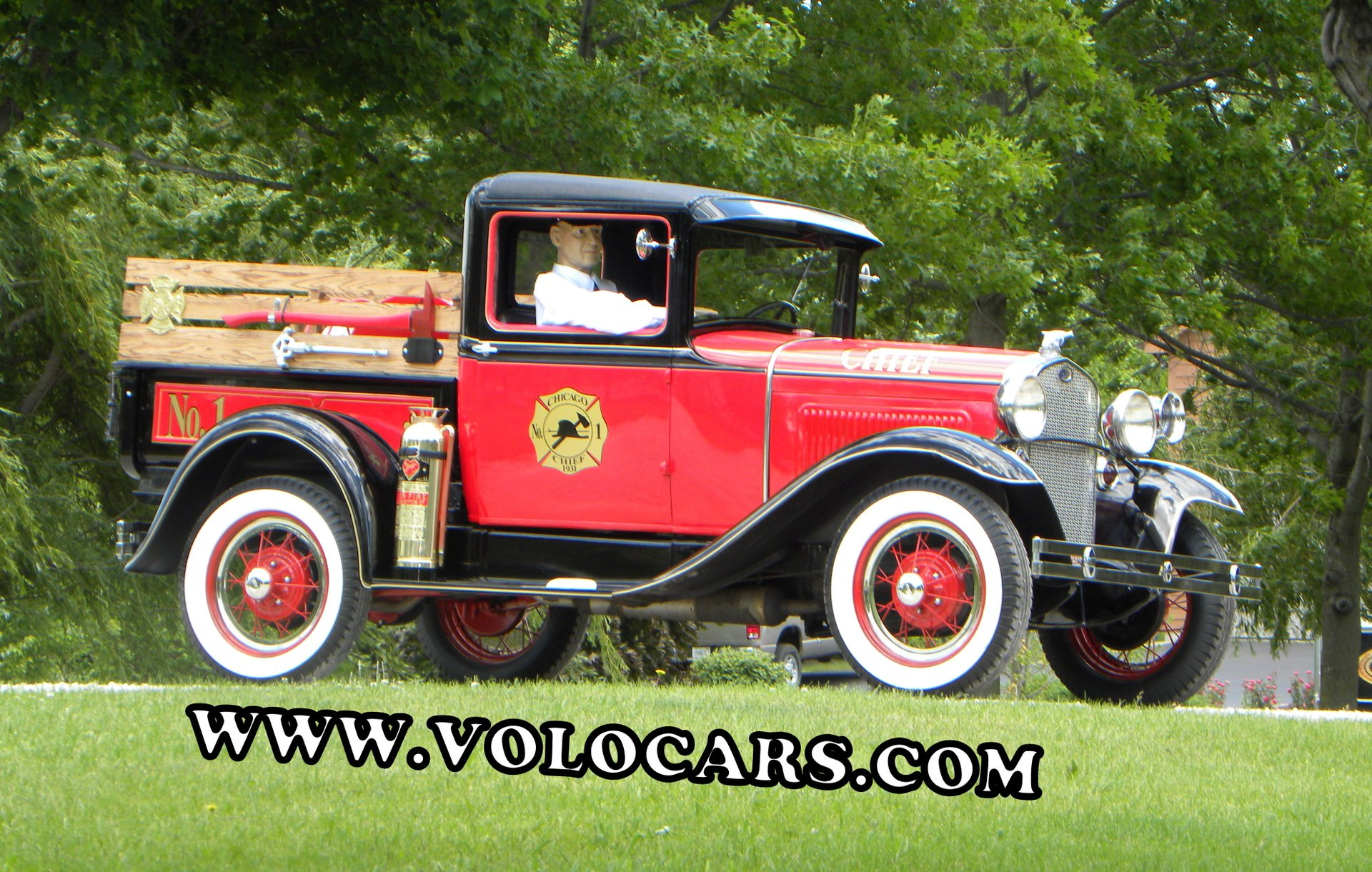 1930 ford model a fire chief truck