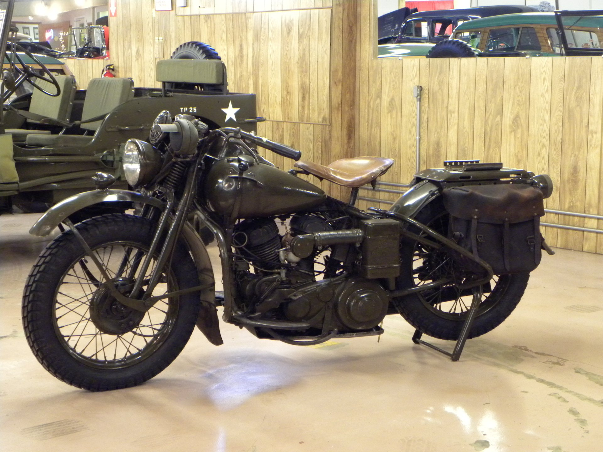 1942 harley davidson wla army issue motorcycle