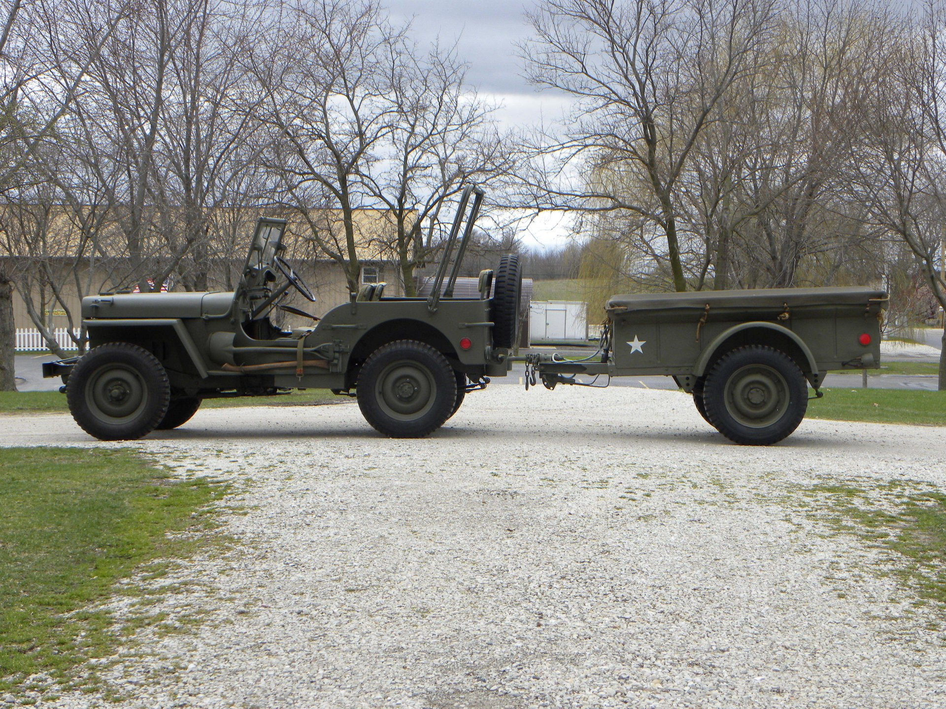 1945 willys mb jeep mbt trailer