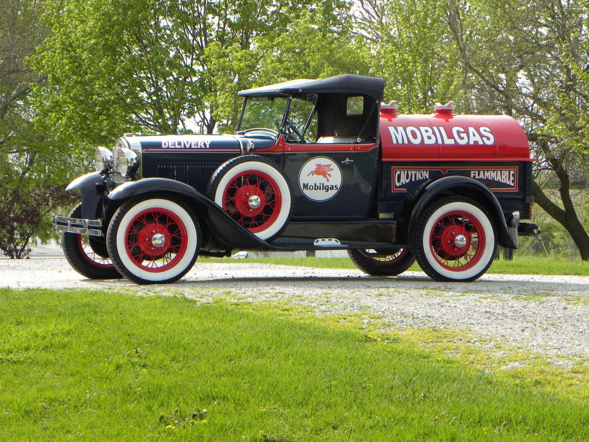 1931 ford model a roadster pickup tribute mobil tanker