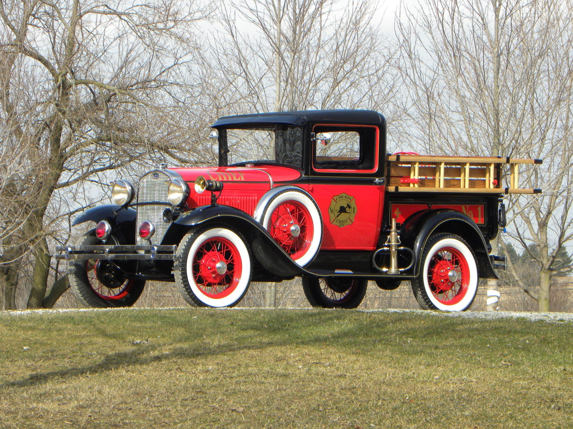 1931 ford model a fire chief truck