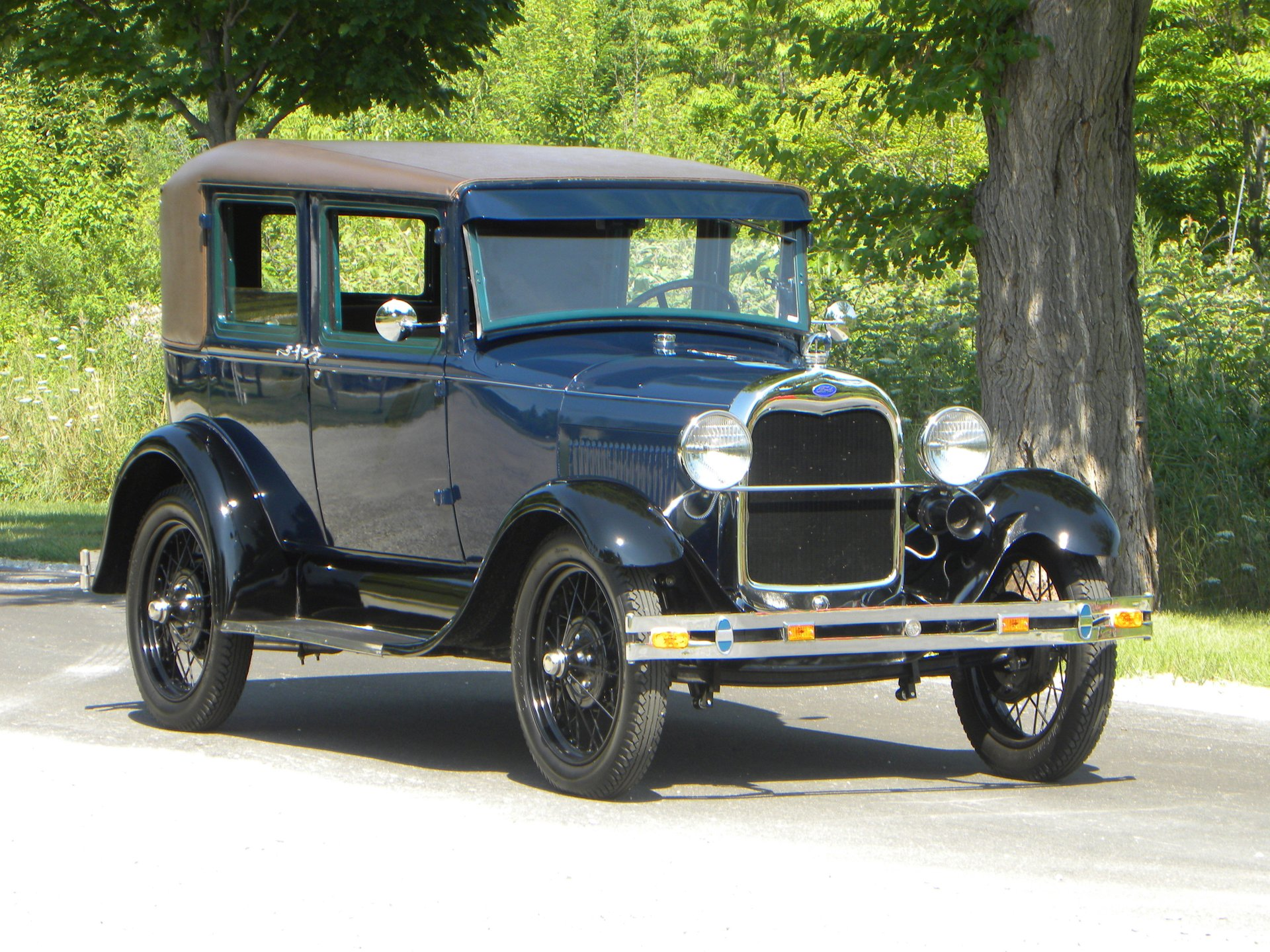 1929 ford model a leatherback fordor sedan