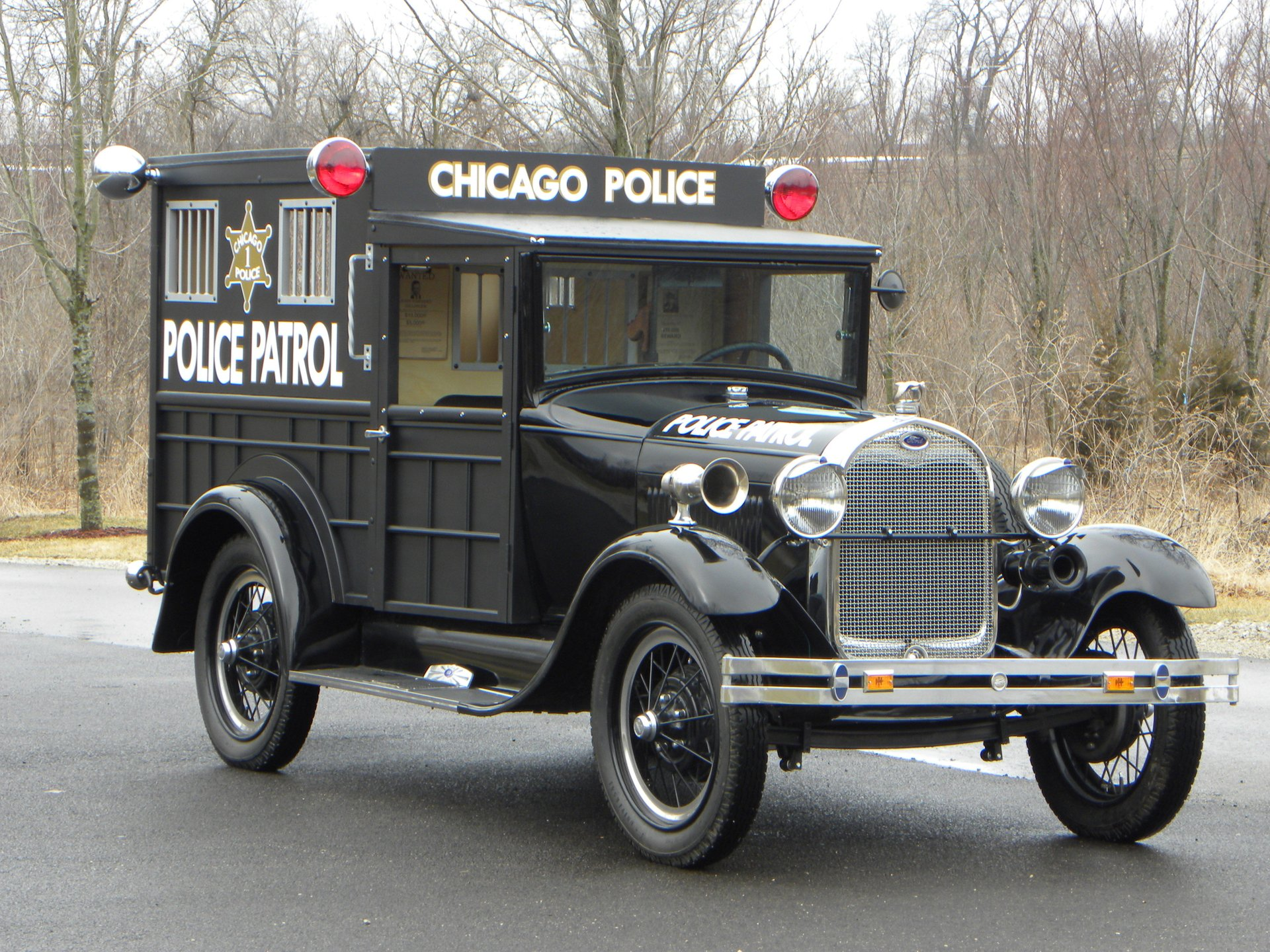 1929 ford model a police paddy wagon