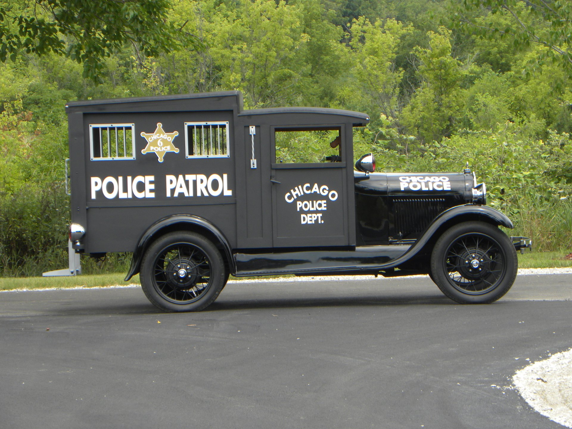 1930 ford model a chicago paddy wagon