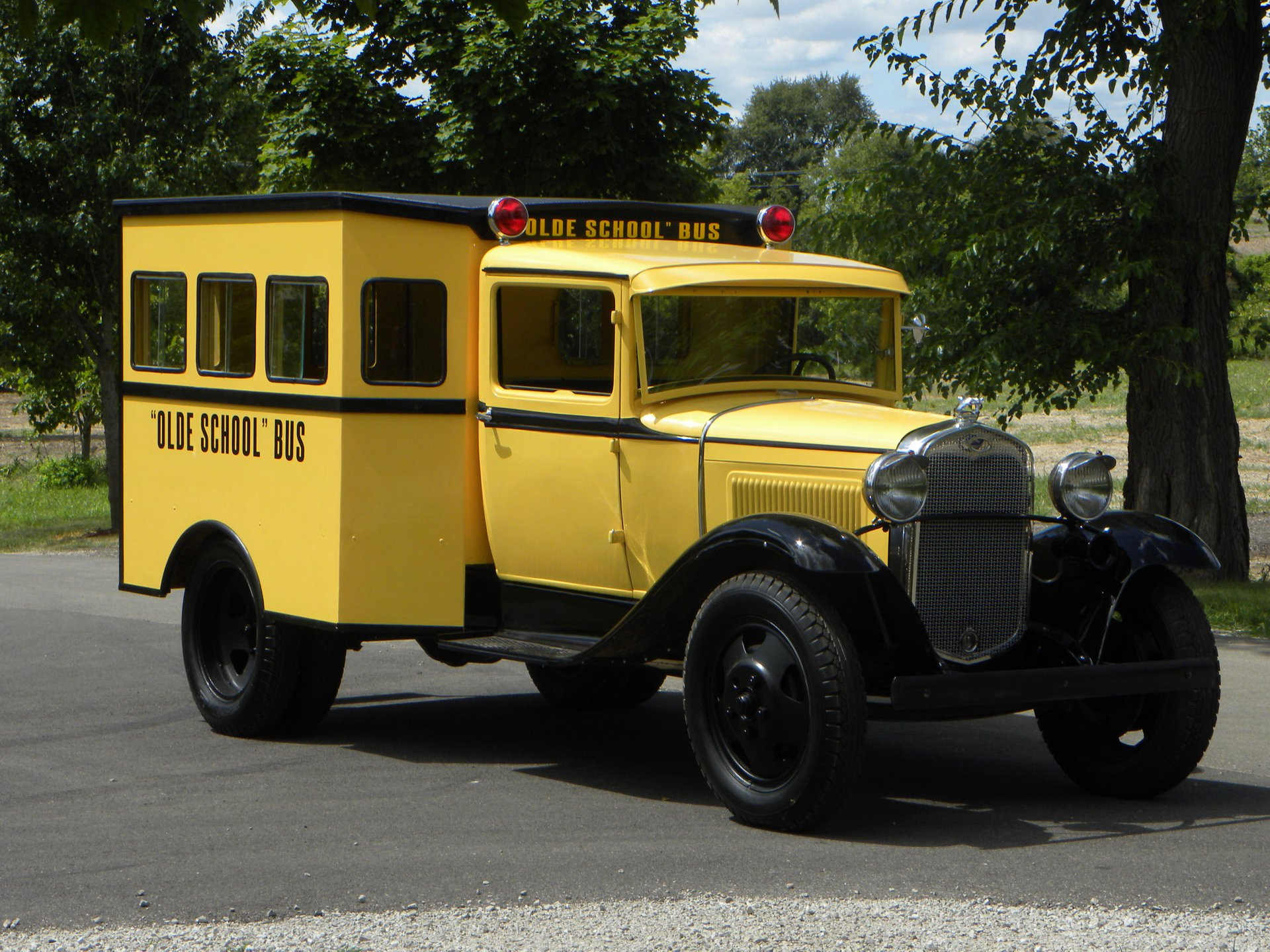 1929 ford model a custom olde school bus