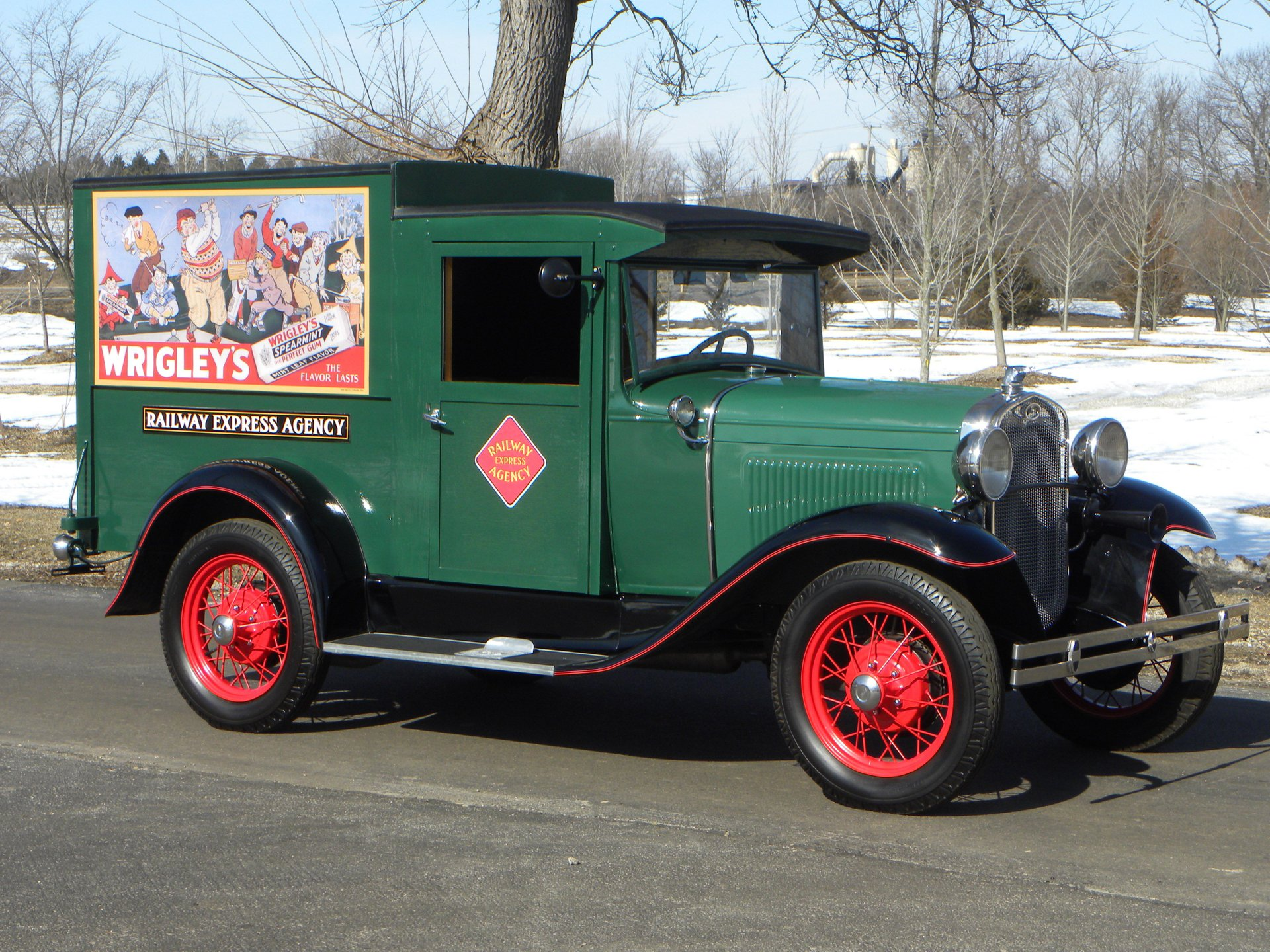 1930 ford railway express delivery