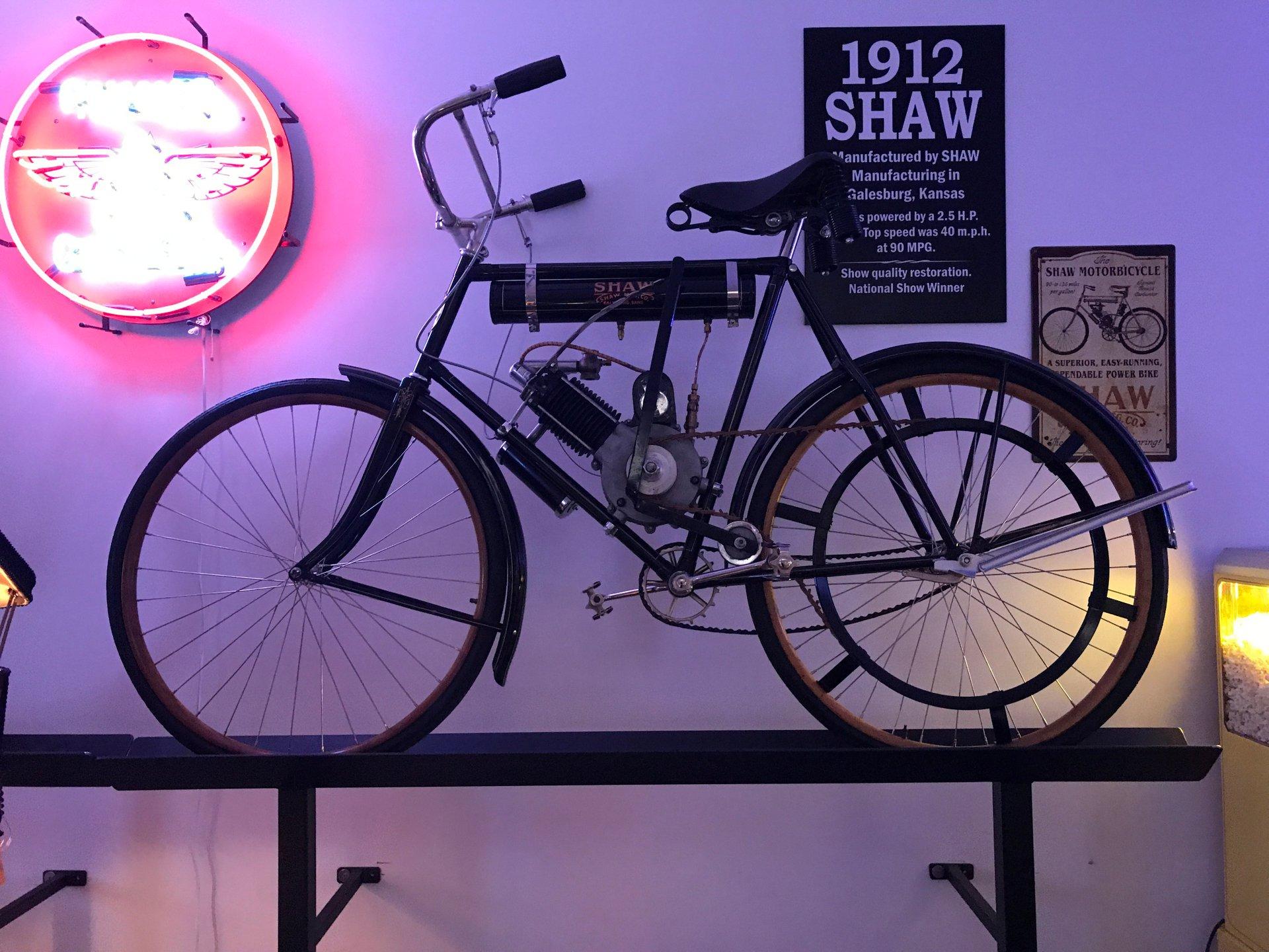 1912 shaw motorbicycle