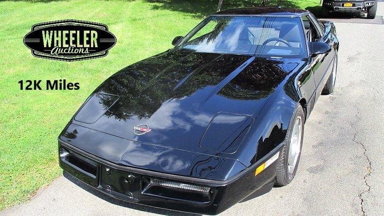 12k In Miles >> 1987 Chevrolet Corvette 12k Miles For Sale 109905 Mcg