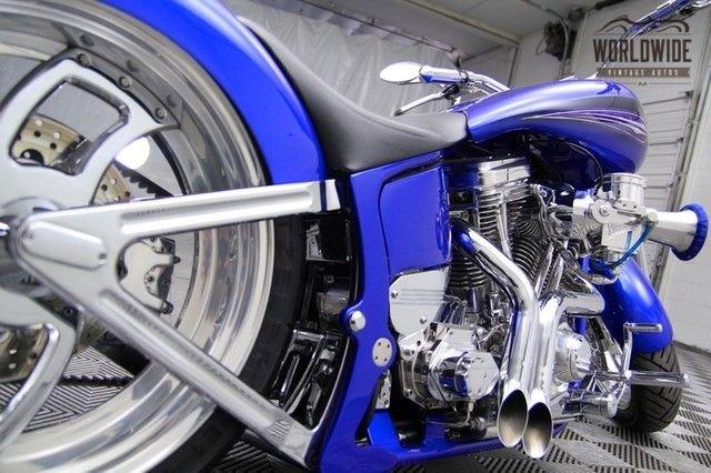 2016 Custom Built Billet Chopper! Magazine Bike With Air Ride!