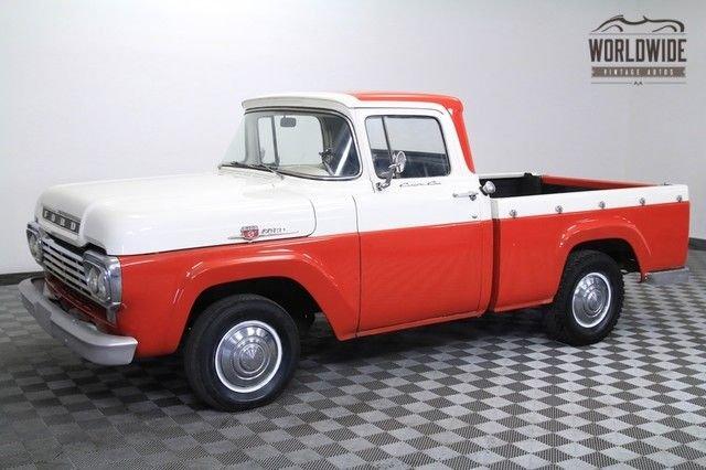 1959 ford f100 292ci v8 2 owner shortbed