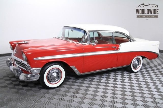 1956 chevrolet belair 265 v8 no post hard top