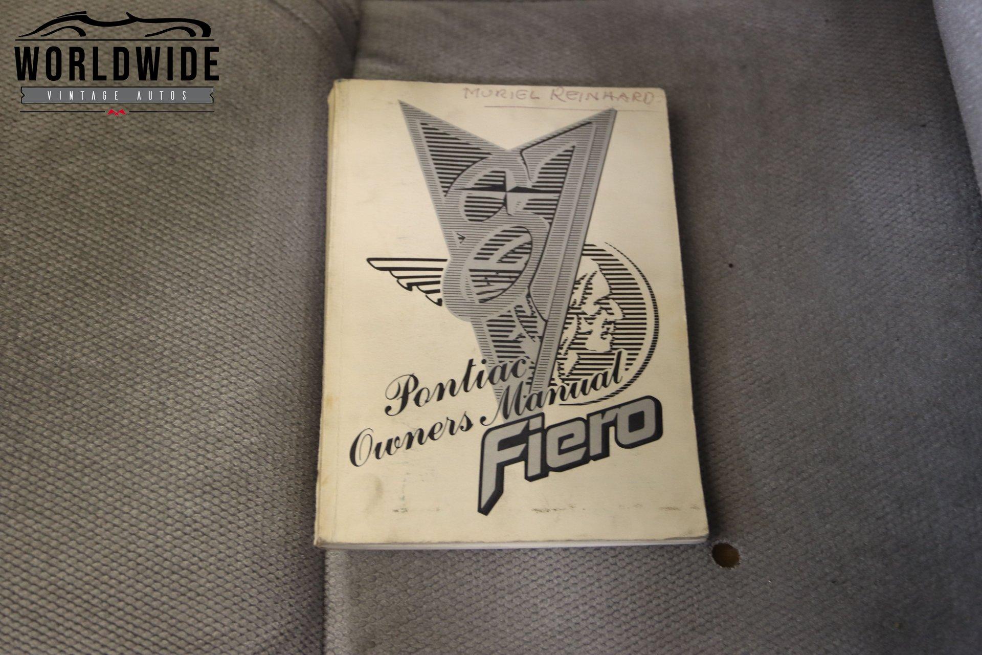 1987 Pontiac Fiero