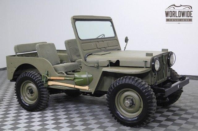 1951 jeep m38 4x4 restored 19k original miles