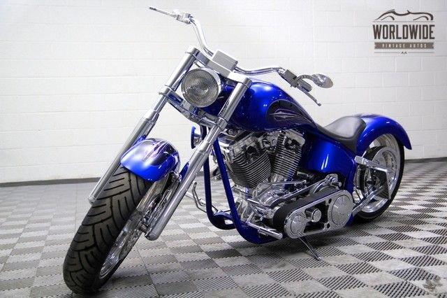1996 custom built billet chopper magazine bike with air ride